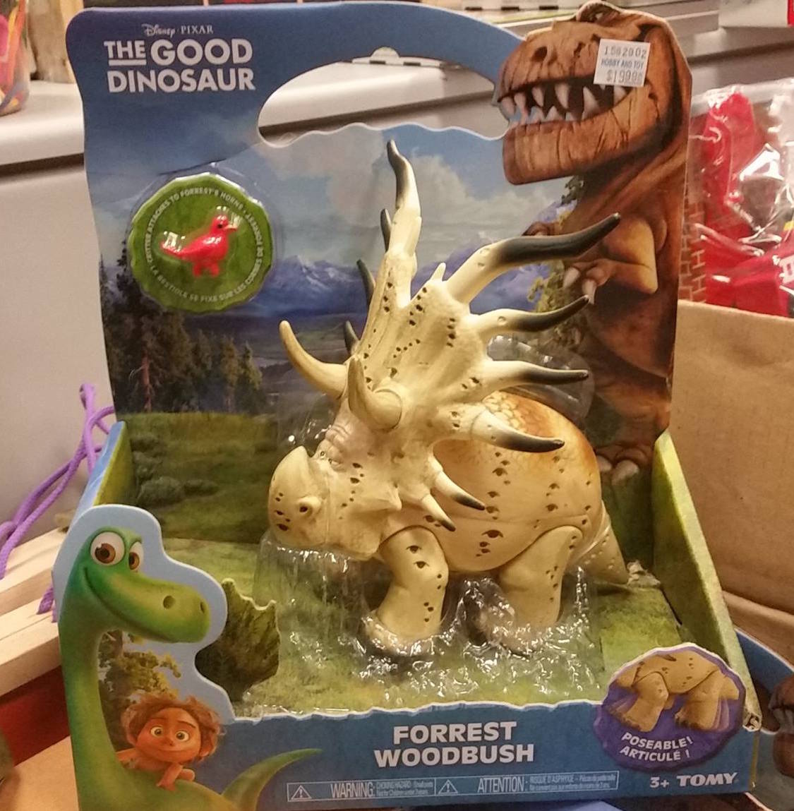 Forrest Woodbush toy from Good Dinosaur movie