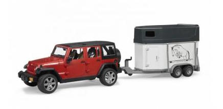 Bruder Jeep Wrangler & Horse Trailer With Horse play set