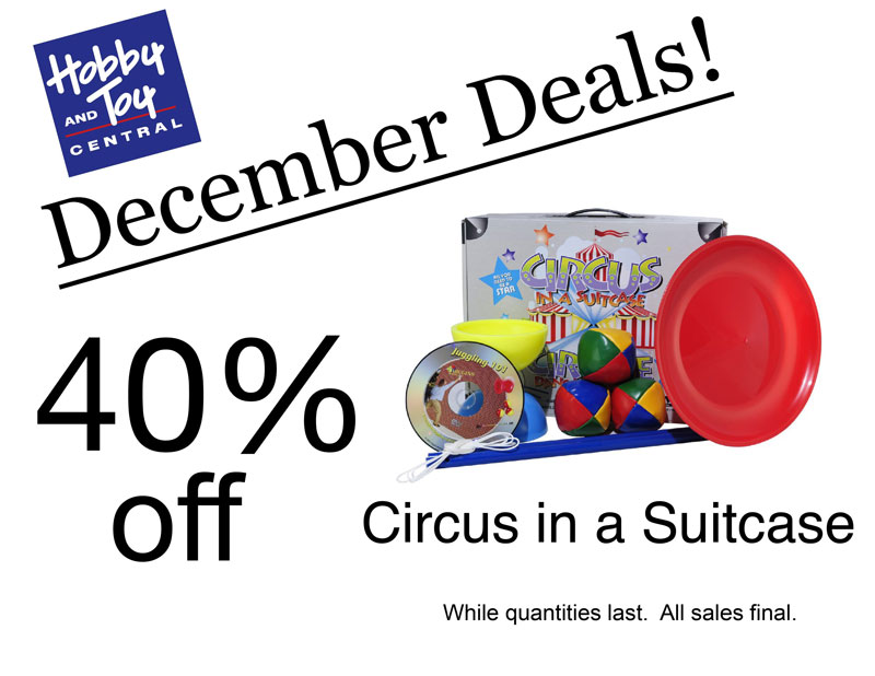 December Deals! 40% off Circus in a Suitcase. While quantities last. All sales final.
