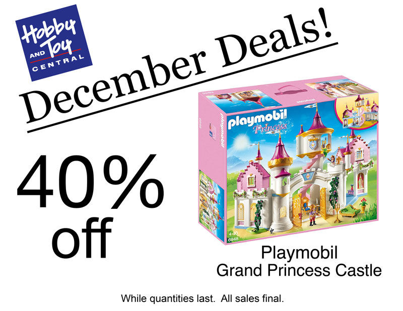 December Deals! 40% off Playmobil Grand Princess Castle. While quantities last. All sales final.