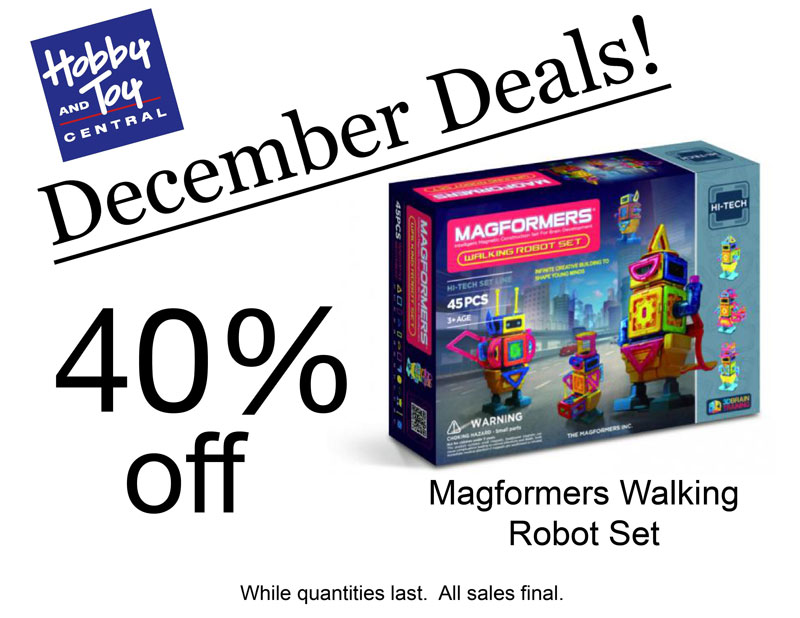 December Deals! 40% off Magformers Walking Robot Set. While quantities last. All sales final.