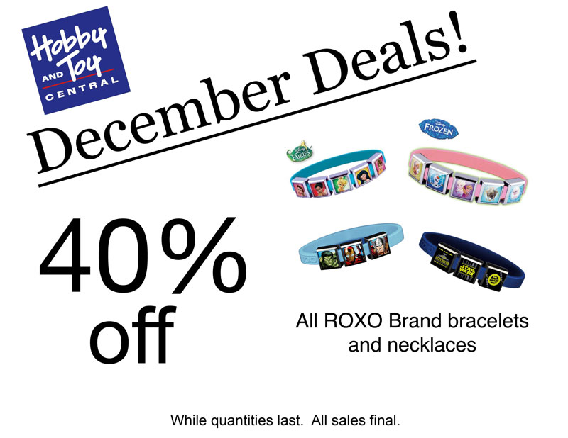 December Deals! 40% off All ROXO Brand bracelets and necklaces. While quantities last. All sales final.