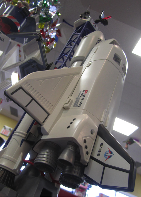 Detail of Playmobil Space set with shuttle