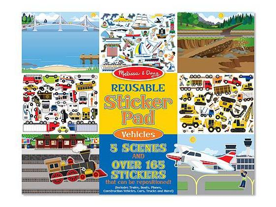 Vehicles Activity Sticker Pad For Kids