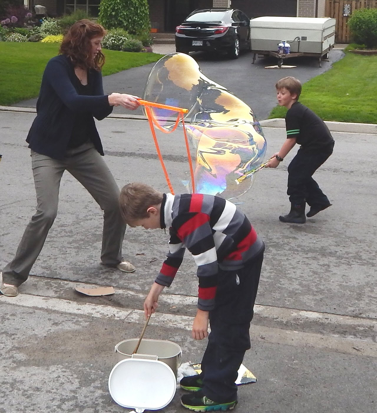 create wonder in your backyard bubbles big small and monstrous