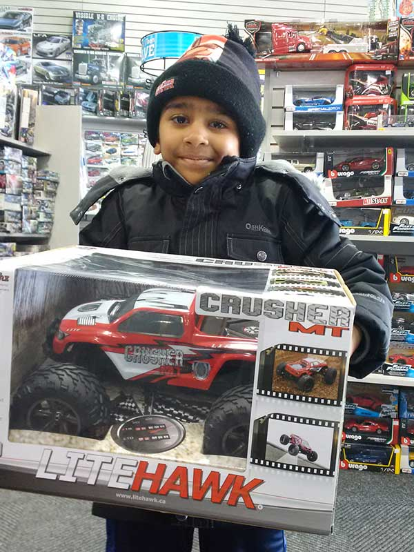 Lite Hawk Radio Control Crusher winner