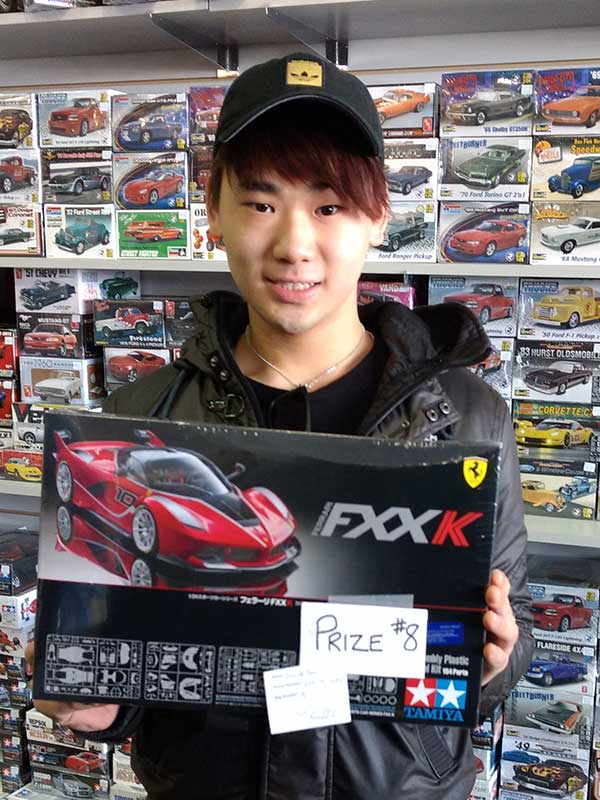 Tamiya model car winner