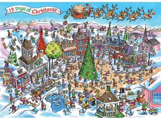 Doodletown: 12 Days Of Christmas 1000Pc