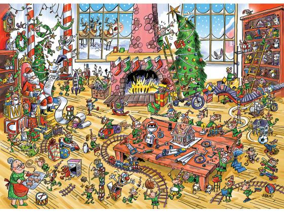Doodle Town: Elves At Work 1000Pc