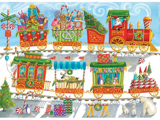 Christmas Train Family 350Pc
