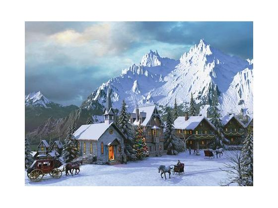 Rocky Mountain Christmas 1000Pc