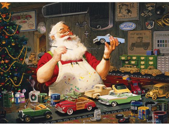 Santa Painting Cars 1000Pc