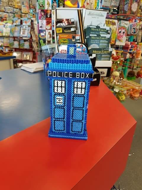 Perler project: Doctor Who TARDIS