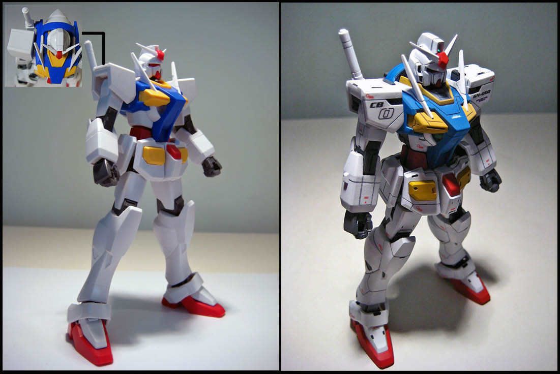 Gundam panel before and after