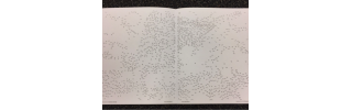 A Dot to Dot Extreme book opened to an incomplete picture