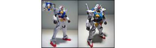 Gundam panel lining before and after