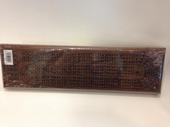 3 Lane Walnut Cribbage Board