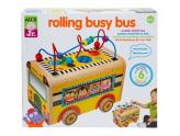Wooden Rolling Busy Bus