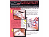 3 Pk. Ink Jet White Decal Sheet