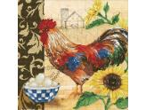 """Diamond Dotz Country Rooster 19.3X19.3"""""""