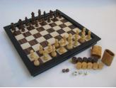 """Wooden 3 In 1 16"""" Game Set"""