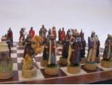 Polyresin Chess Pieces Mongolian Vs Russians
