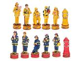 Polyresin Chess Pieces Fire Fighters