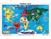 World Map Floor Puzzle 33Pc